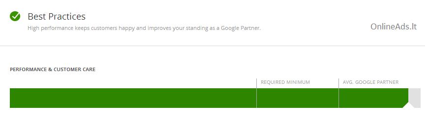 OnlineAds.lt Google AdWords partner best practices status